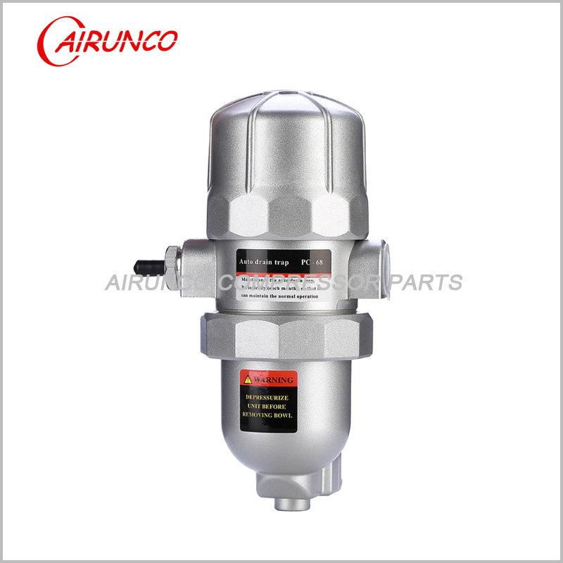 Automatic drain valve PC-68 auto drain trap a key to clean air dryer