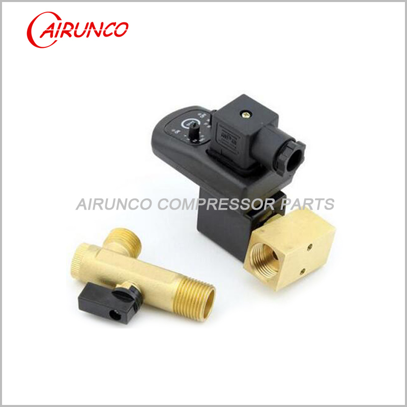 Electronic drain valve split type Port Sizes: 1/4, 3/8, 1/2