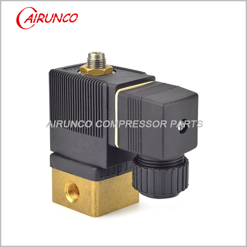 BURKERT normally closed solenoid valve AC220V  apply to screw air compressor