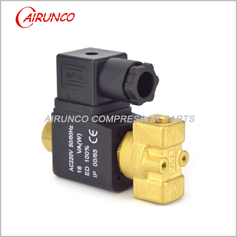 BURKERT normally open solenoid valve AC220V apply to screw air compressor