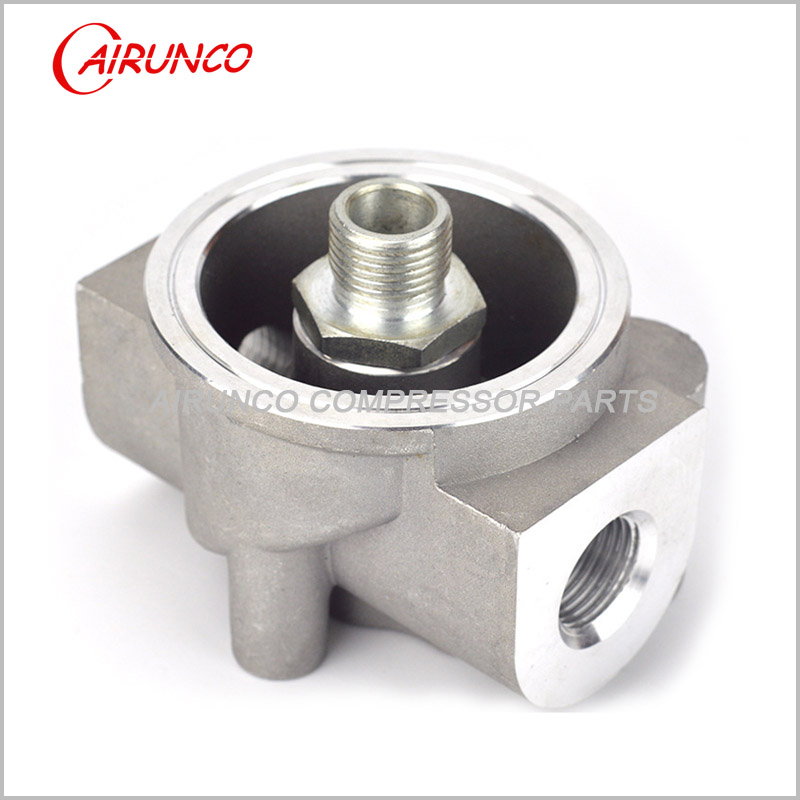 casting oil filter base YL-4 apply to W719 and W962 for screw air compressor