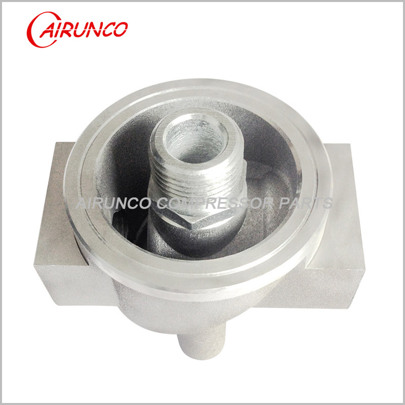 casting oil filter base YL-10 apply to W11102 and W13145 for screw air compressor