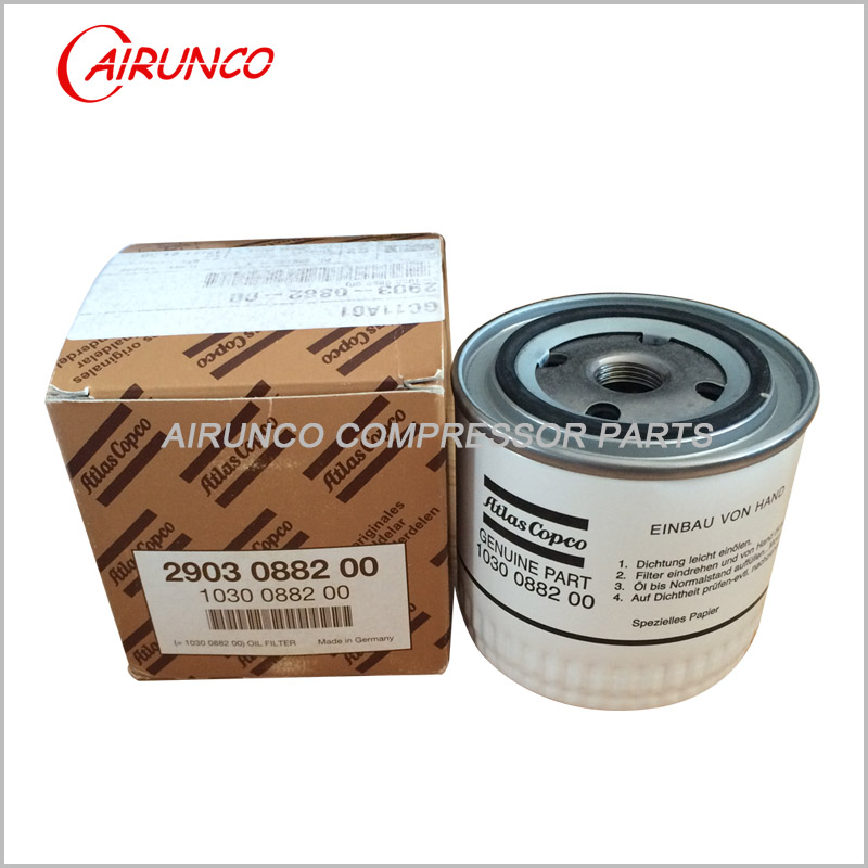 Atlas copco genuine oil filter element 1030088200 original air compressor parts