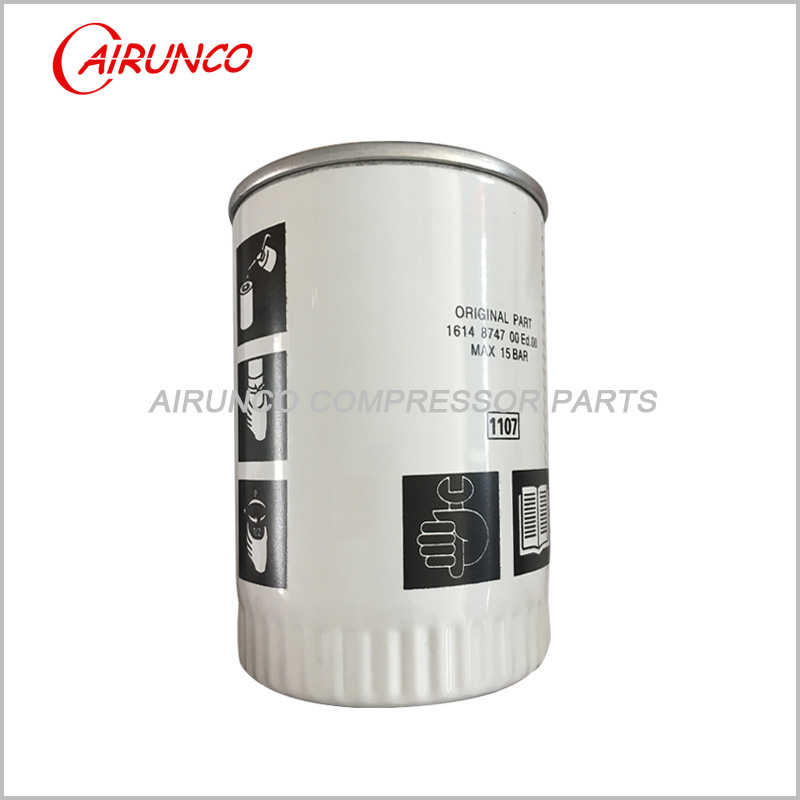 Atlas copco oil filter elelment1614874700 replacement air compressor parts