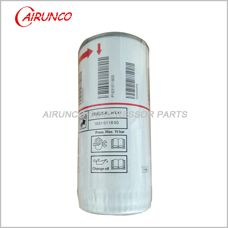 FUDA Liutech oil filter element genuine 1631011800 original air compressor