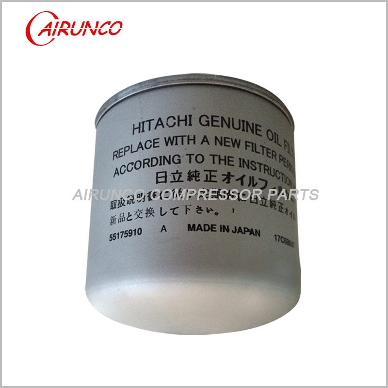 HITACHI 55175910 OIL FILTER ELEMENT genuine air compressor filters