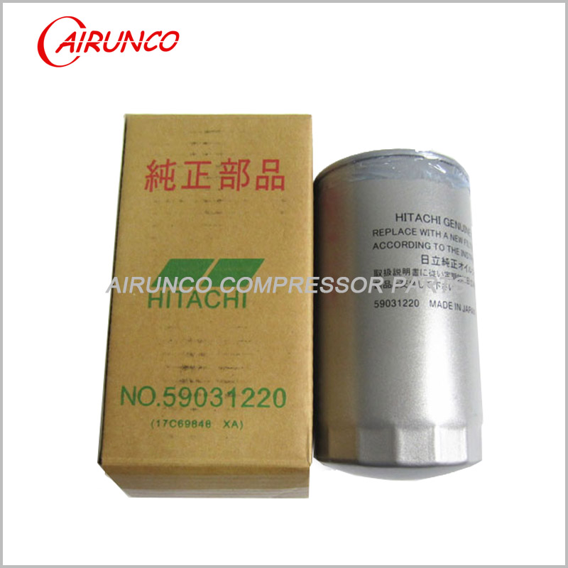 HITACHI 59031220 OIL FILTER ELEMENT genuine air compressor filters