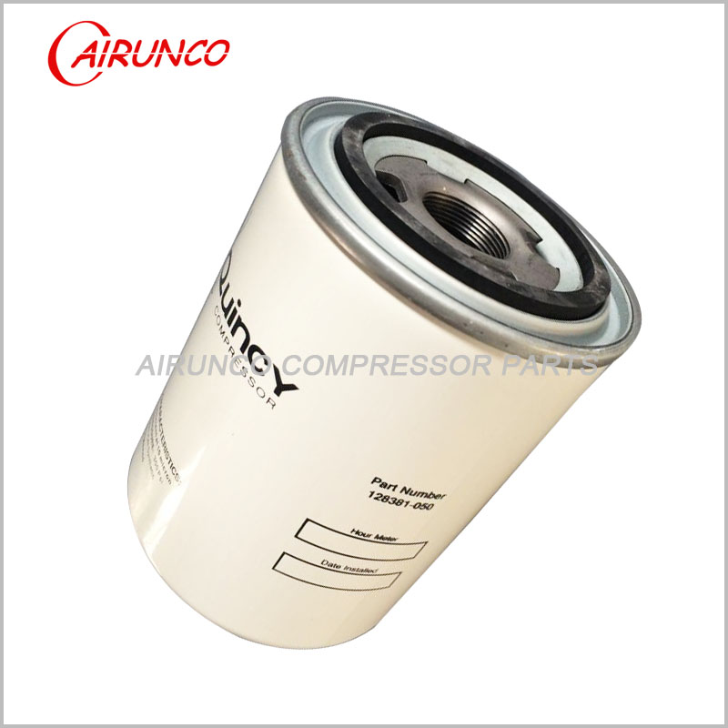 spin oil filter element 128381-050 Quincy genuine air compressor filters