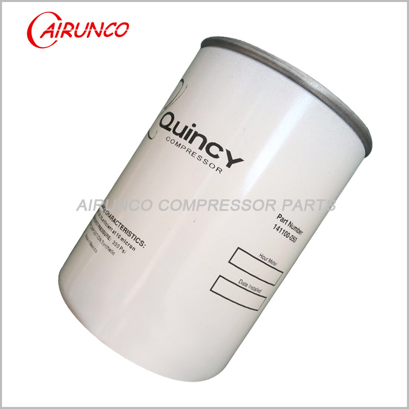 spin oil filter element 141100-050 Quincy genuine air compressor filters