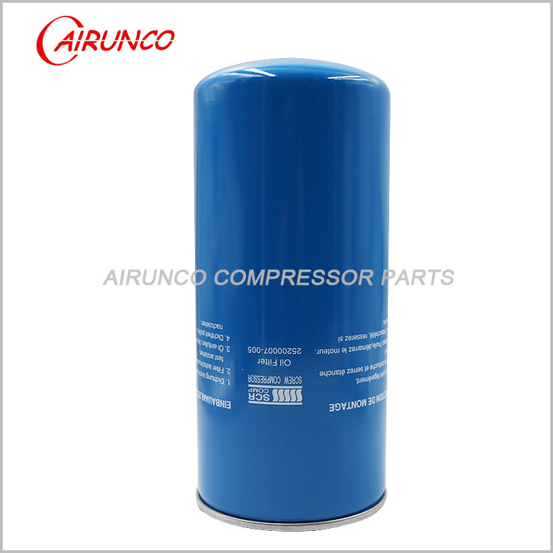 air compressor filters SCR COMP oil filter element 25200007-005