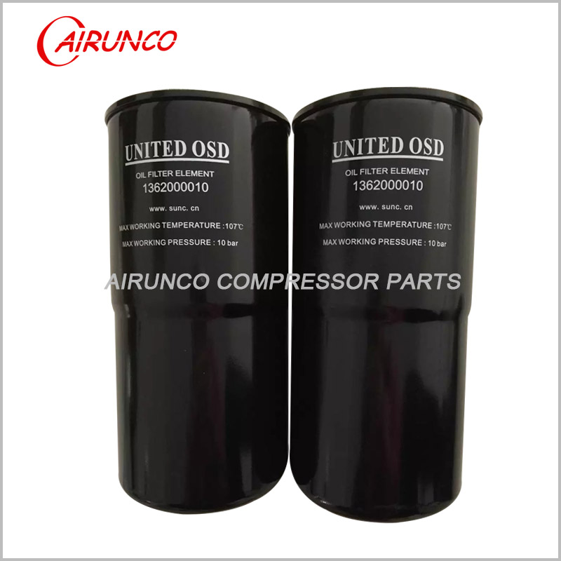 oil filter element 1362000010 UNITED OSD replacement air compressor filters