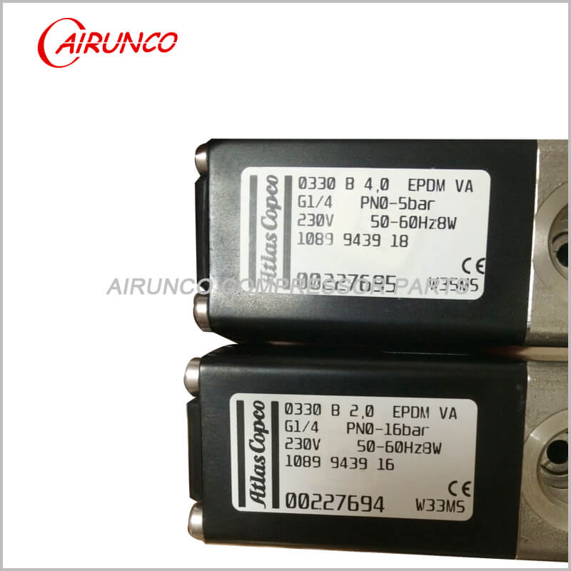 solenoid valve oilless 230V 1089943916 apply to atlas copco spare parts